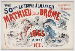 French Advertising Poster Triple Almanach