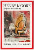 Exhibition Advertising Poster Henry Moore Tate Gallery