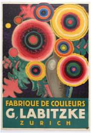 Advertising Poster Labitzke Jules de Praetere