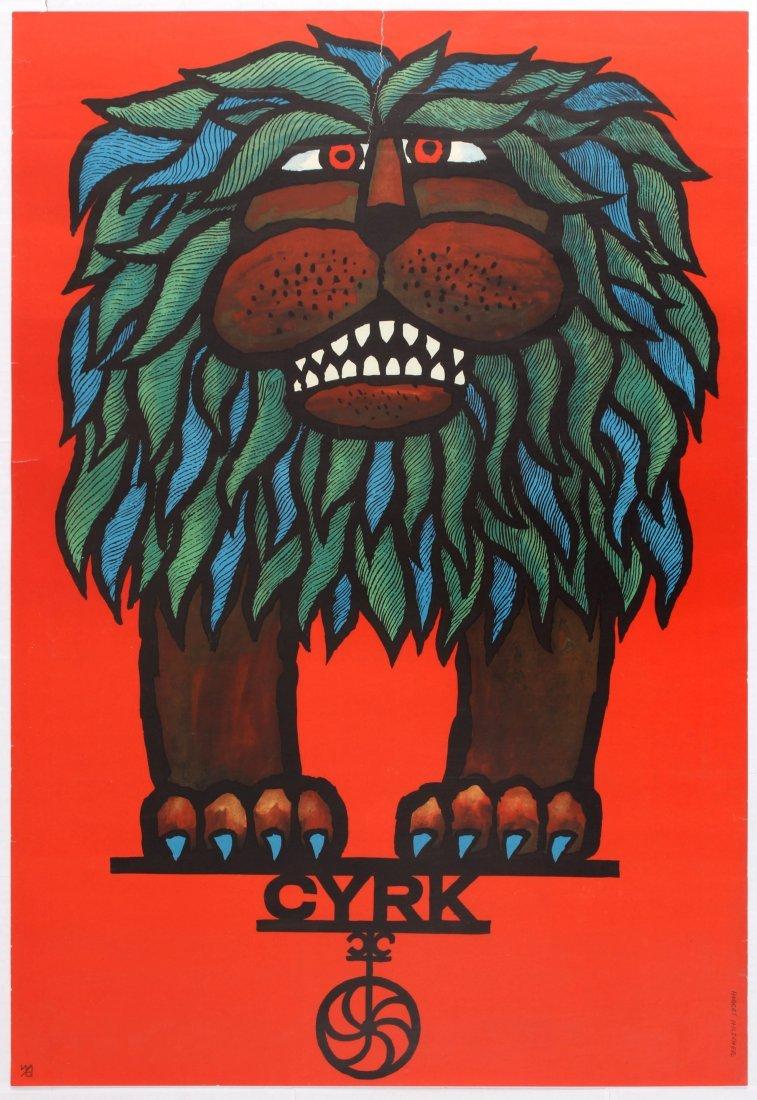 Advertising Poster Circus Cyrk Lion