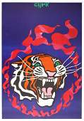 Advertising Poster Polish Circus Cyrk Tiger