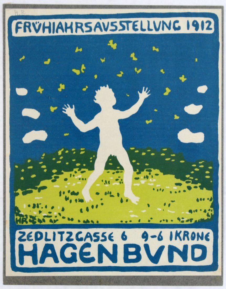 Advertising Poster Hagenbund Exhibition