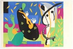 Original Lithograph Print Tristesse Henri Matisse Verve