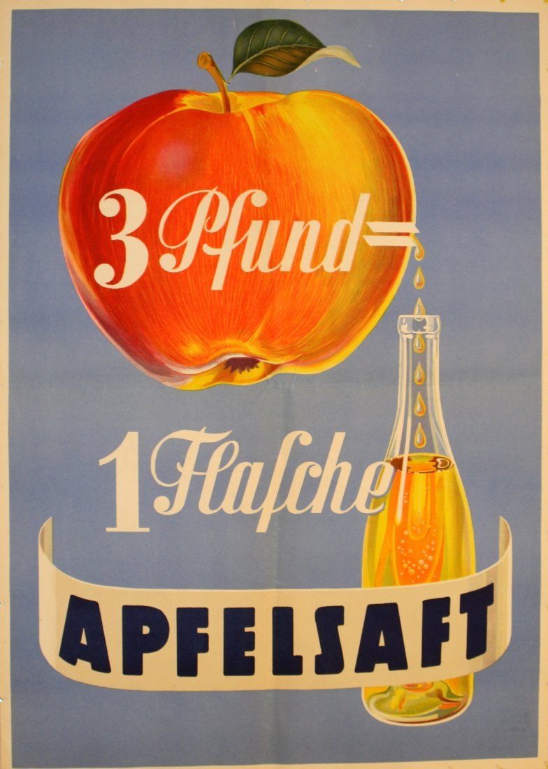 Advertising Posters Apple Juice