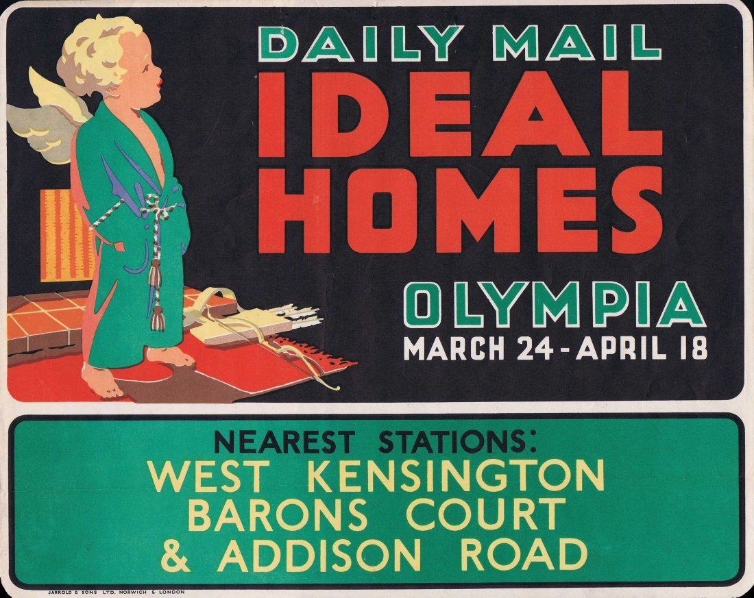 Advertising Posters Ideal Homes Olympia Daily Mail 1936