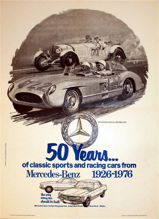 Advertising Posters Mercedes Benz Mille Miglia
