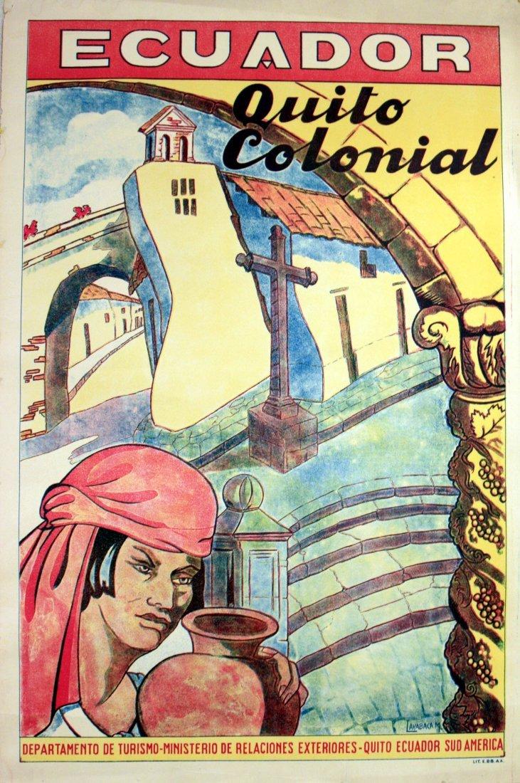 Travel Posters Ecuador, Quito Colonial