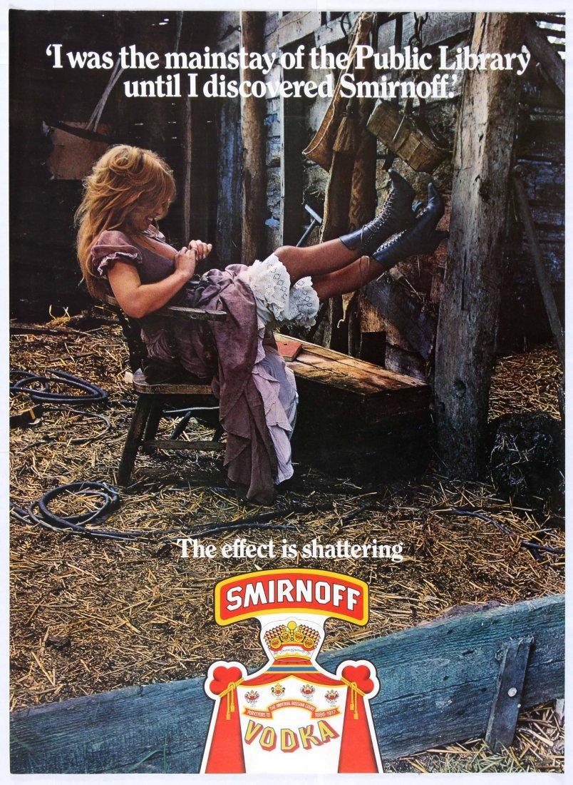 Advertising Poster Smirnoff Vodka Librarian Farm Girl
