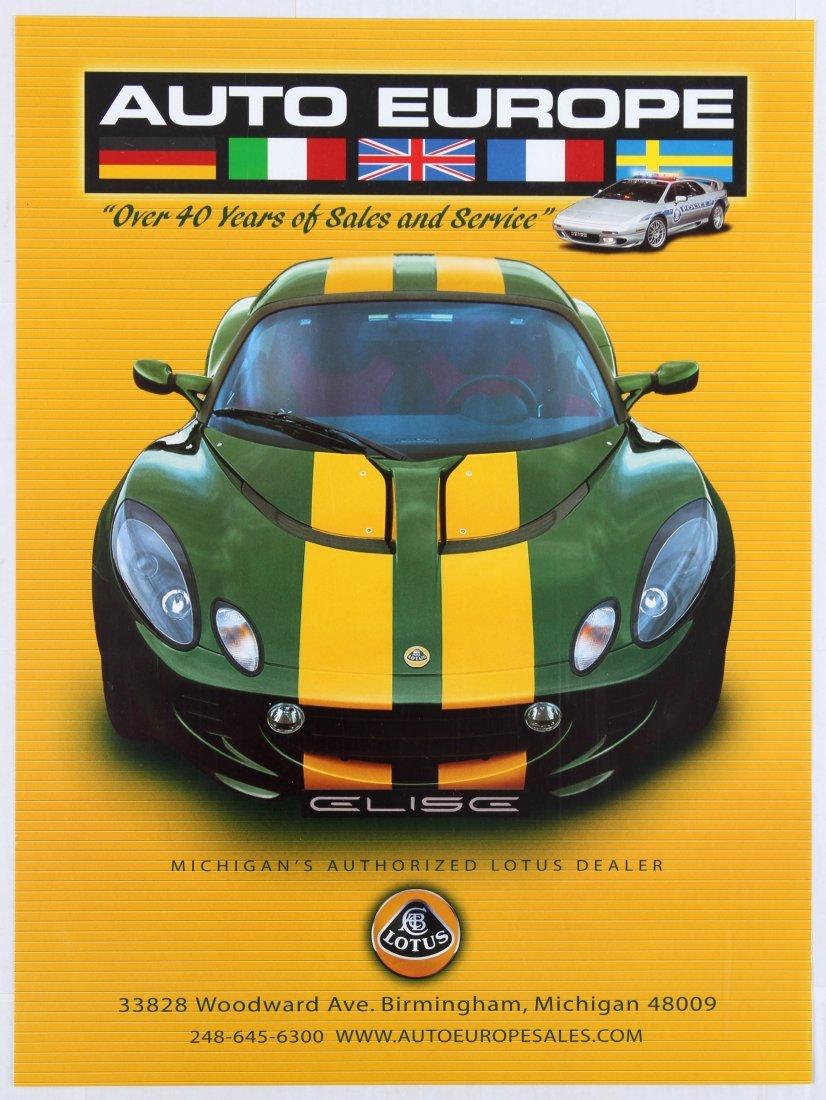 Advertising Poster Lotus Cars