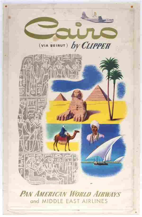 Travel Poster Cairo Beirut Clipper