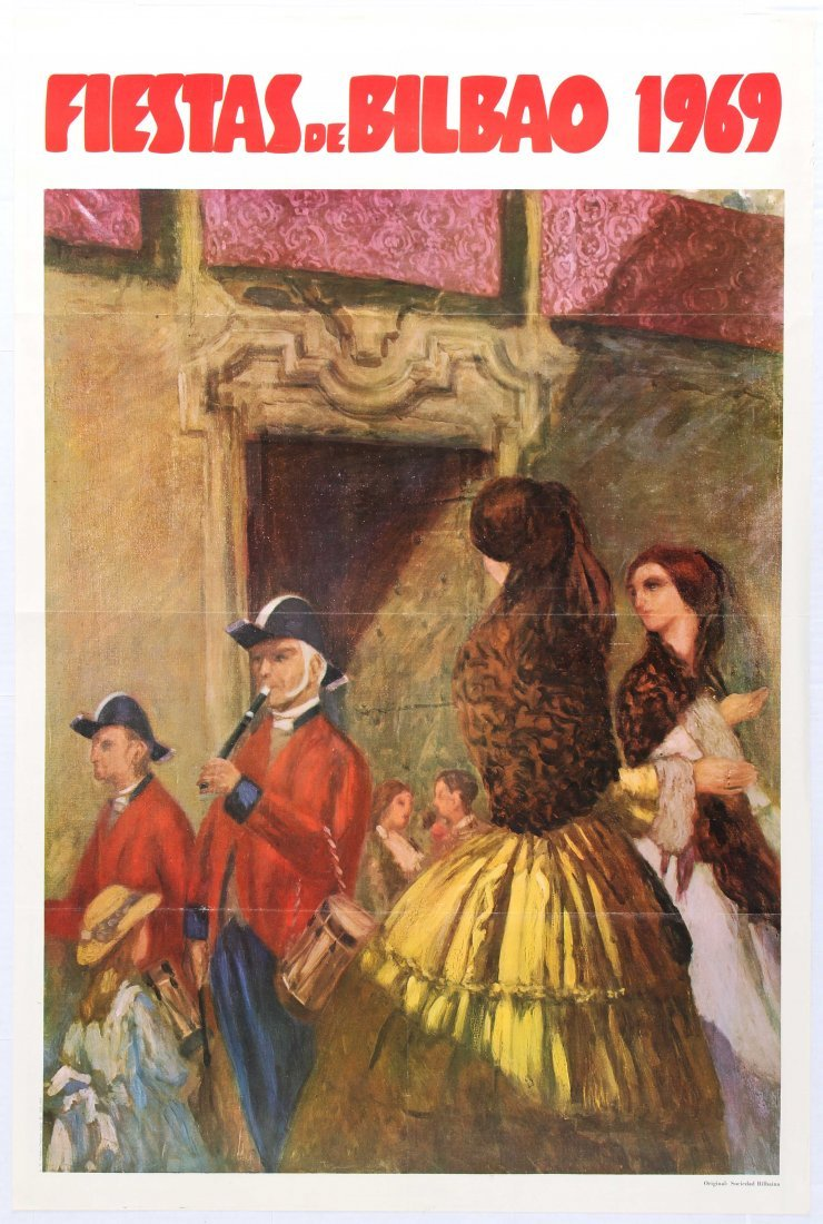 Travel Poster Fiestas Bilbao 1969