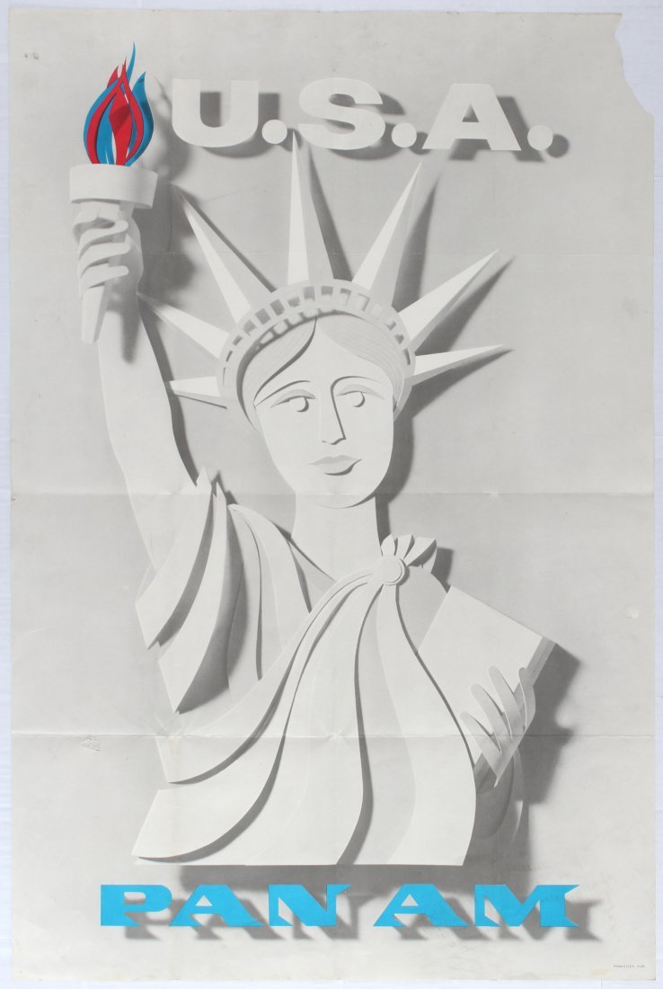 Travel Poster USA PAN AM
