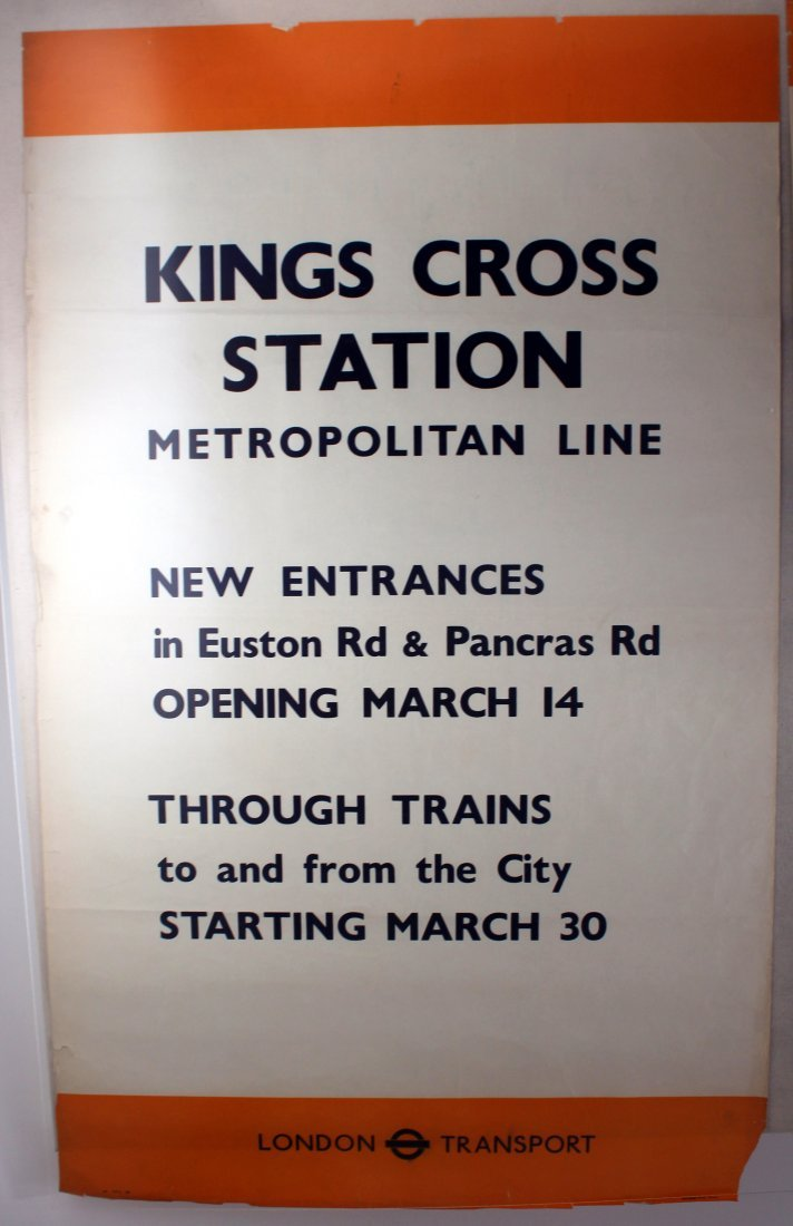 Original London Underground Poster King's Cross WWII