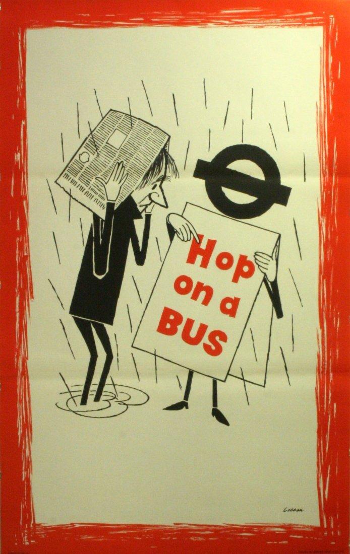 Original Vintage Poster London Transport Hop Bus