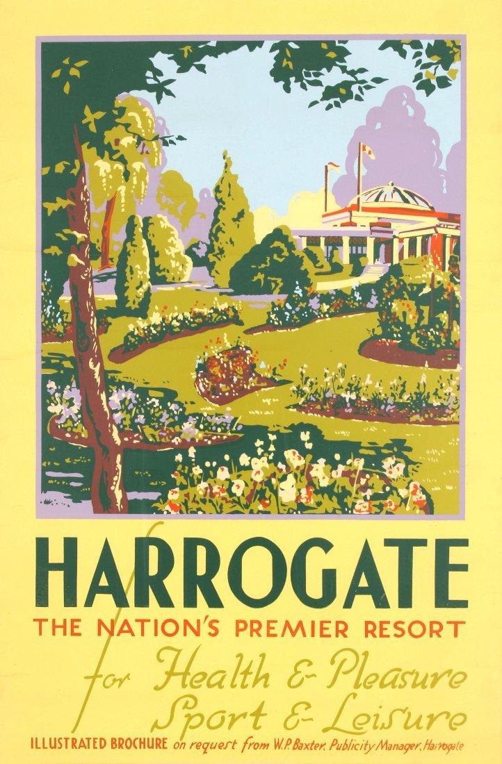 Travel Poster Harrogate Premier Resort 1930s