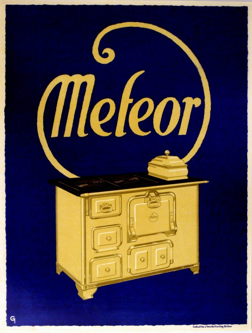 Advertising Poster Meteor Aga Stove