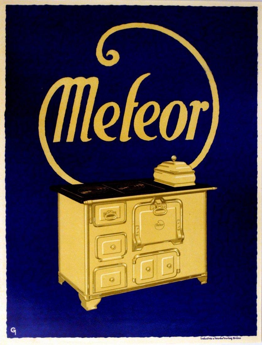 Advertising Poster Meteor Aga Stove