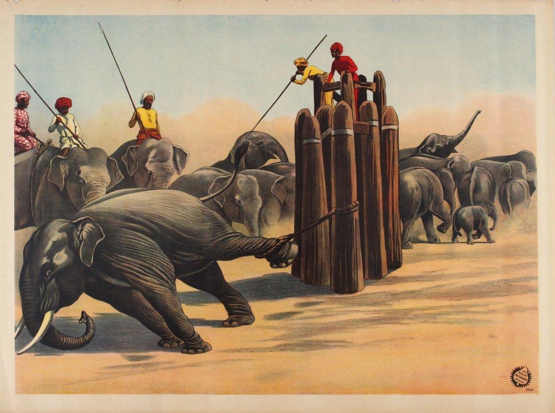 Advertising Poster Circus Fairground Elephants