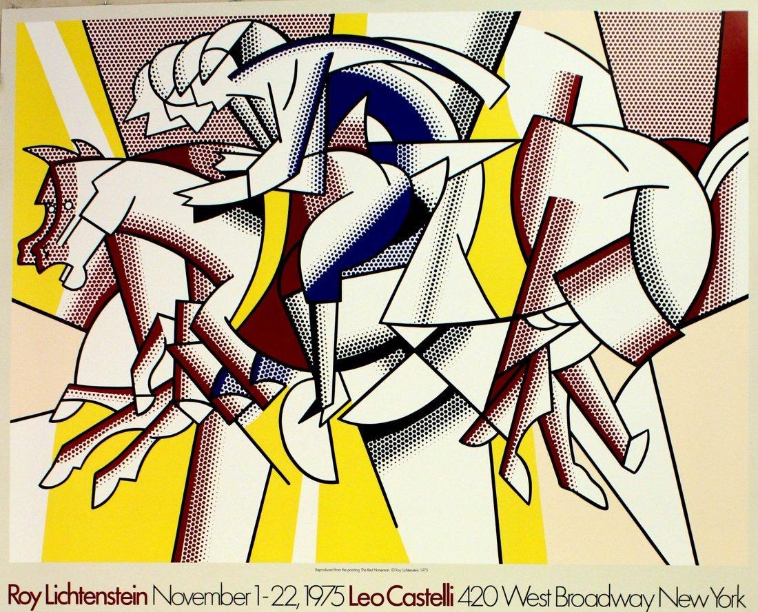 Advertising Poster Roy Lichtenstein, Leo Castelli