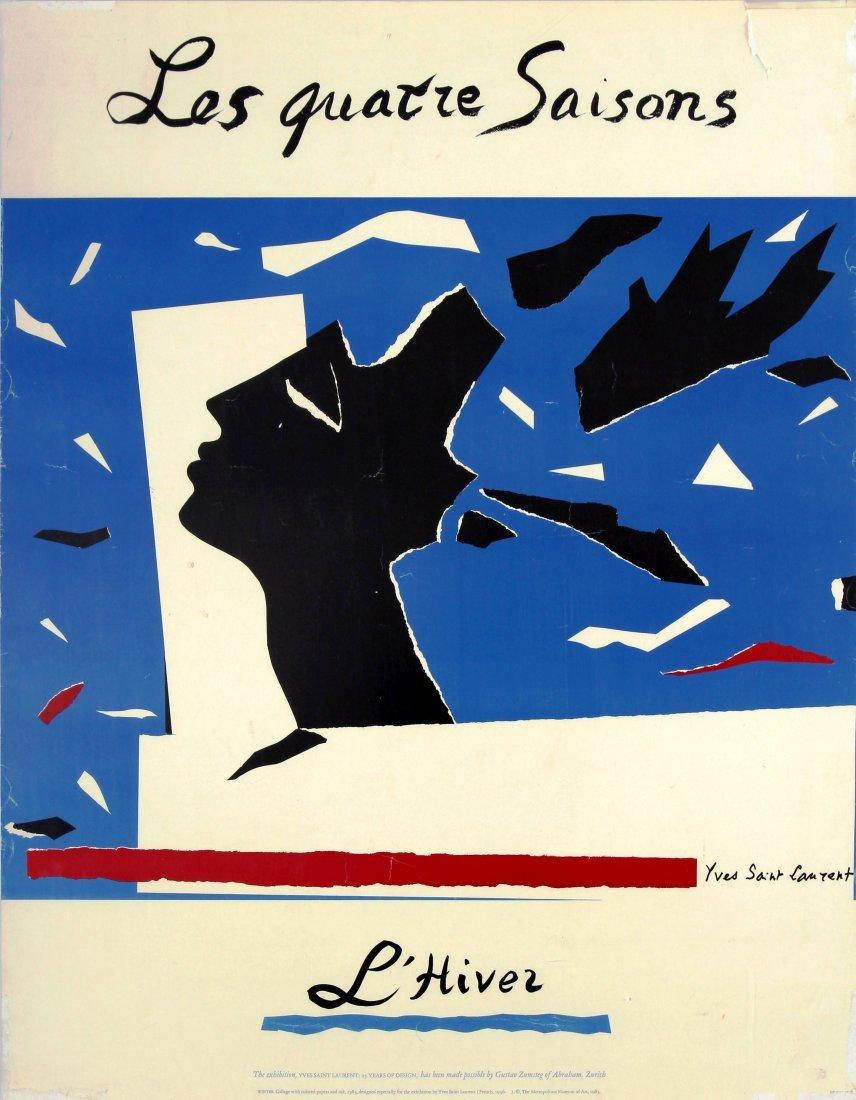 Advertising Poster Yves Saint Laurent Four Seasons