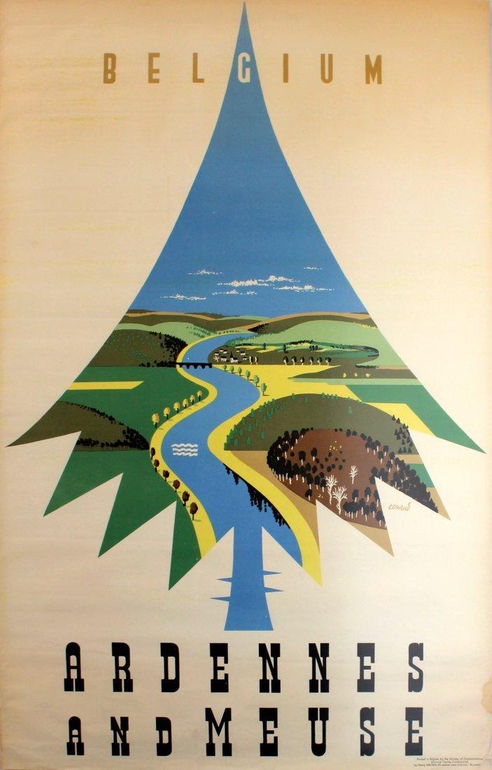 Travel Poster Belgium Ardennes Meuse