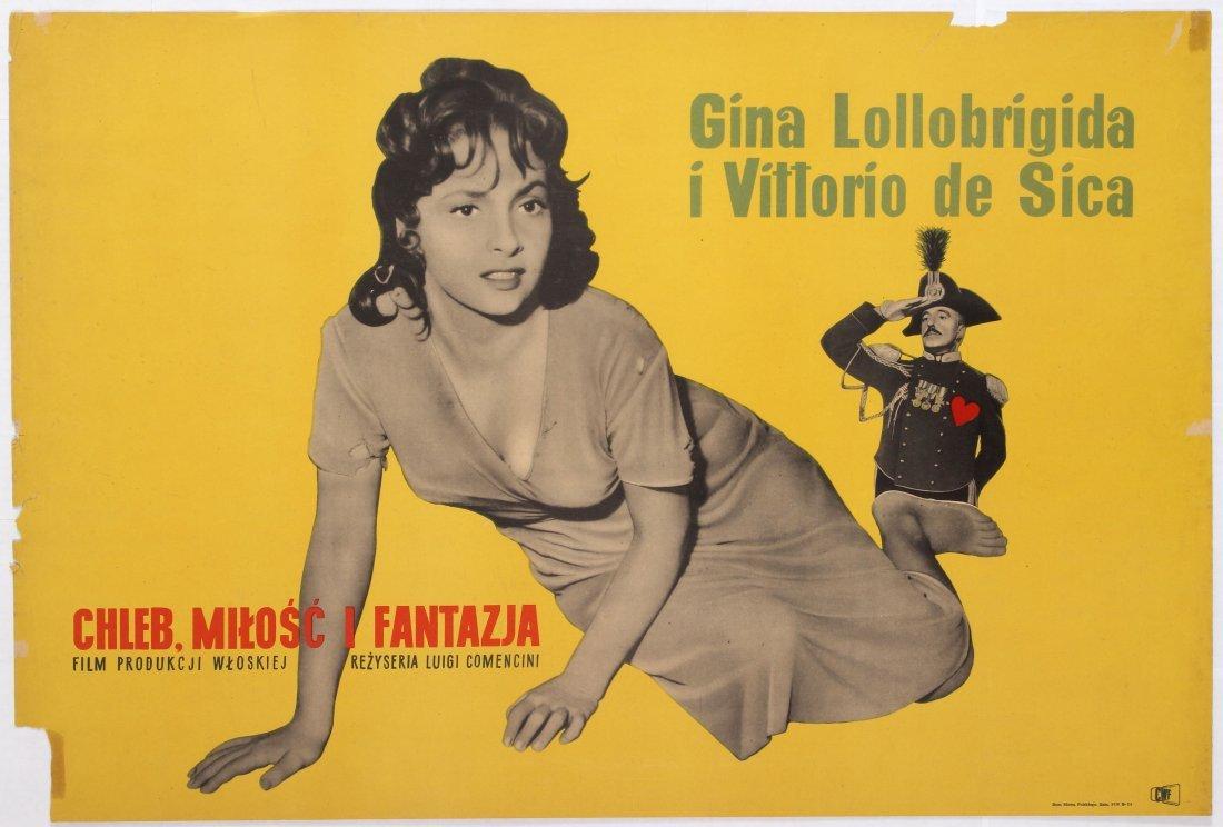 Polish Movie Poster for the Italian film Bread, Love