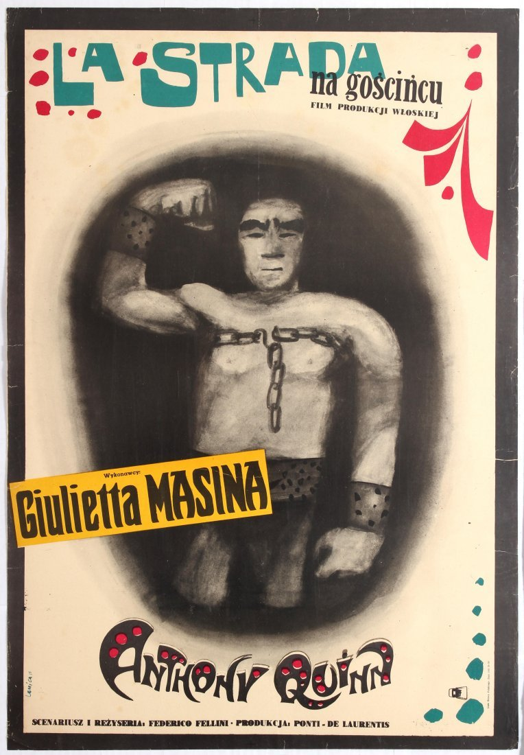 Polish Movie Poster Italian film La Strada Frederico