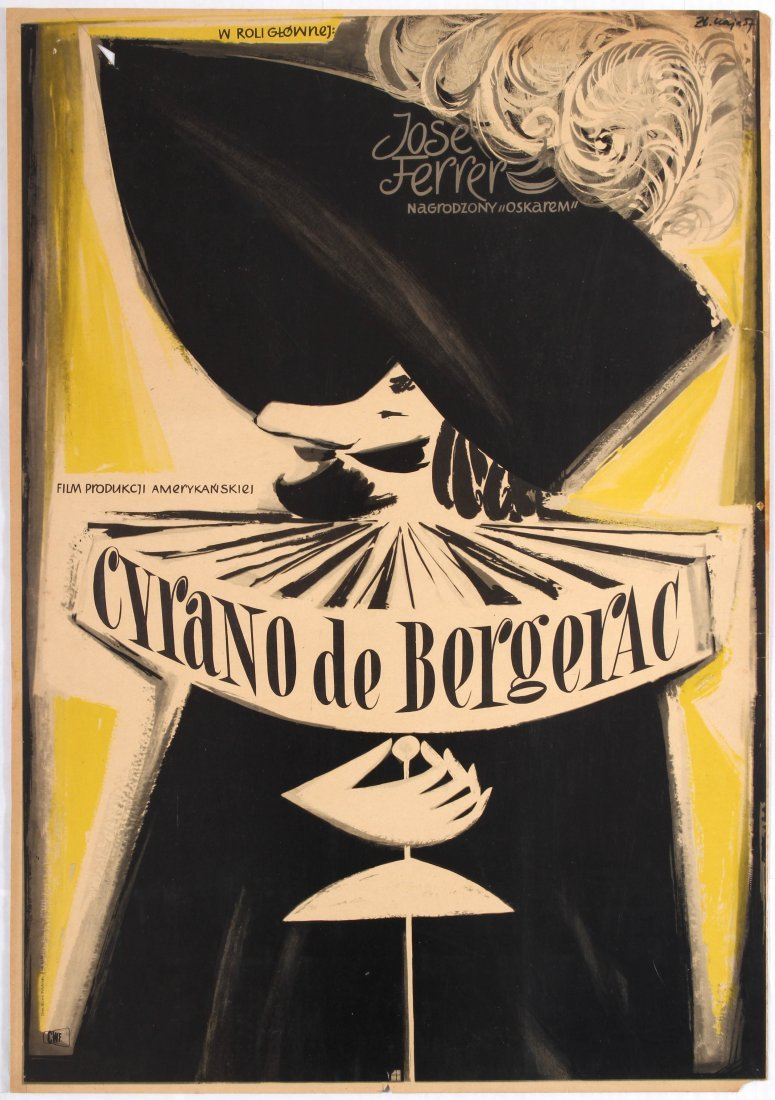 Polish Movie Poster American film Cyrano de Bergerac