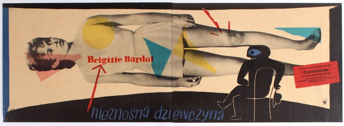 Polish Movie Poster for the French film Naughty Girl