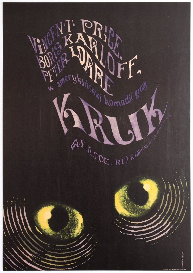 Polish Movie Poster for the American film The Raven