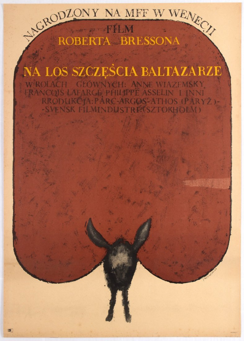 Polish Movie Poster for the French film Au Hasard,
