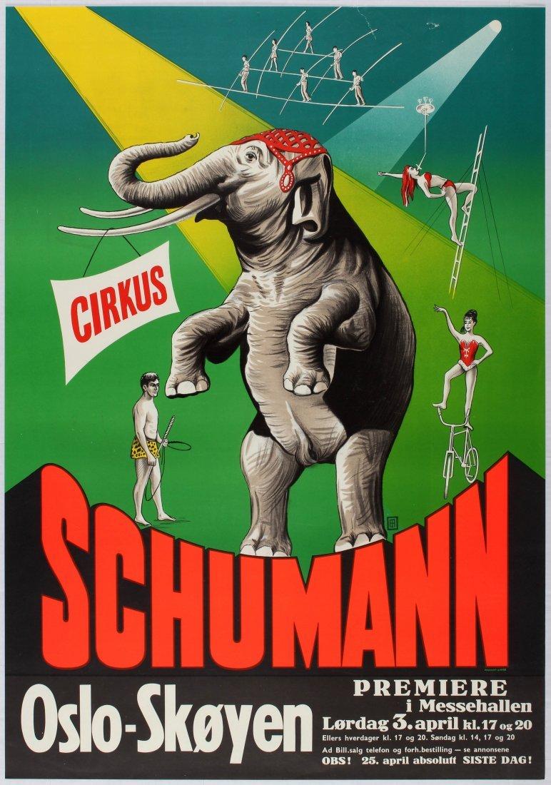 Advertising Poster Cirkus Schumann - Oslo