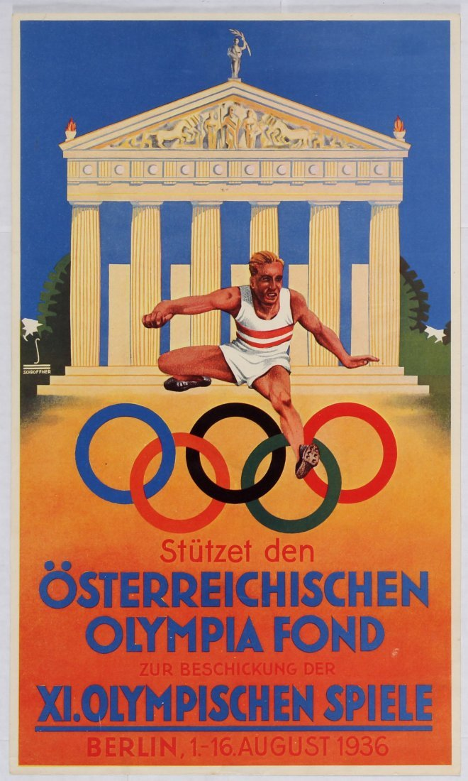 Sport Poster Olympic Games Fund Berlin 1936