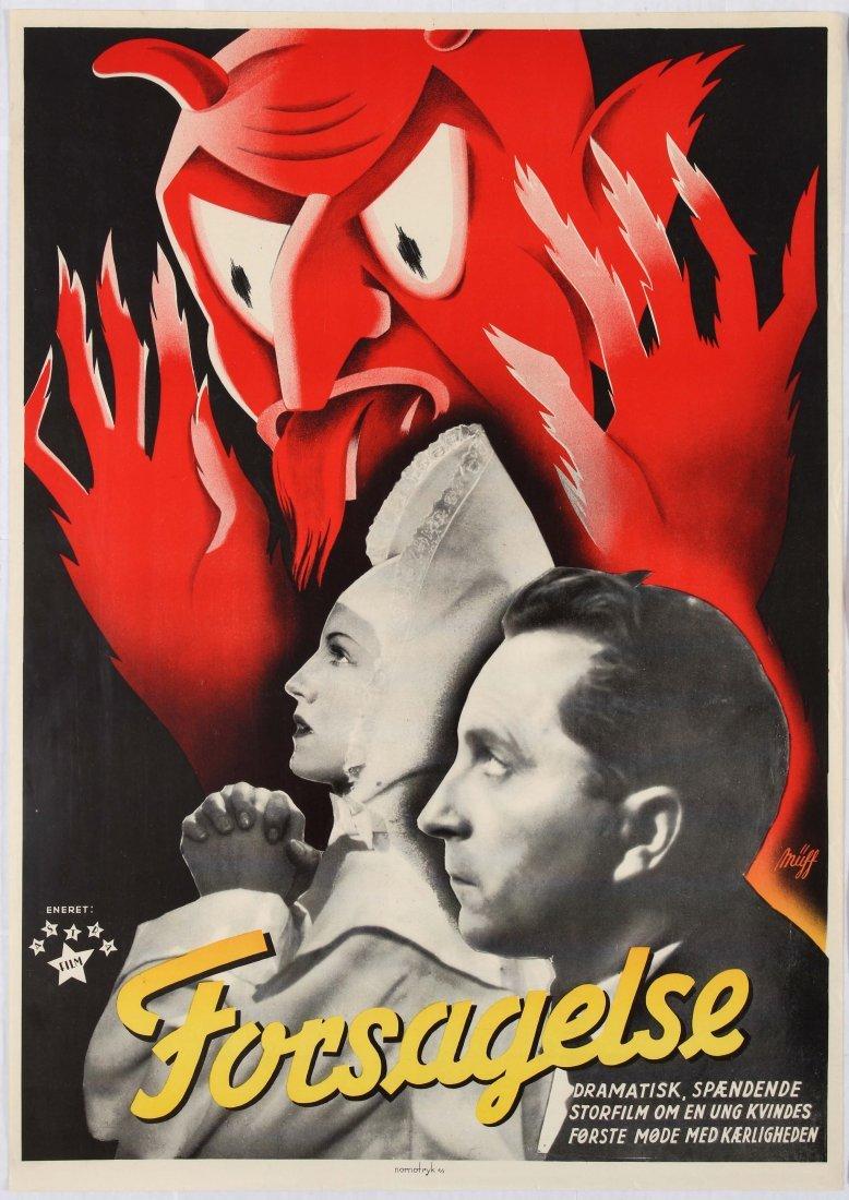 Movie Poster Forsagelse Silent Film