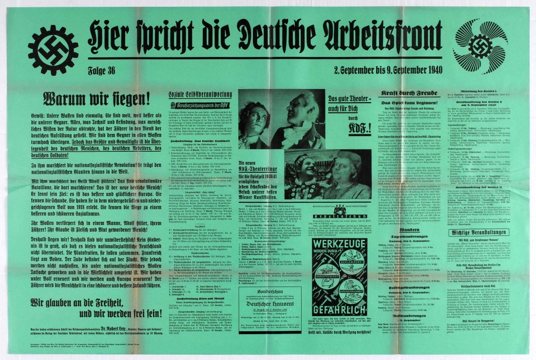 Nazi Propaganda poster - The Voice of the German Labour