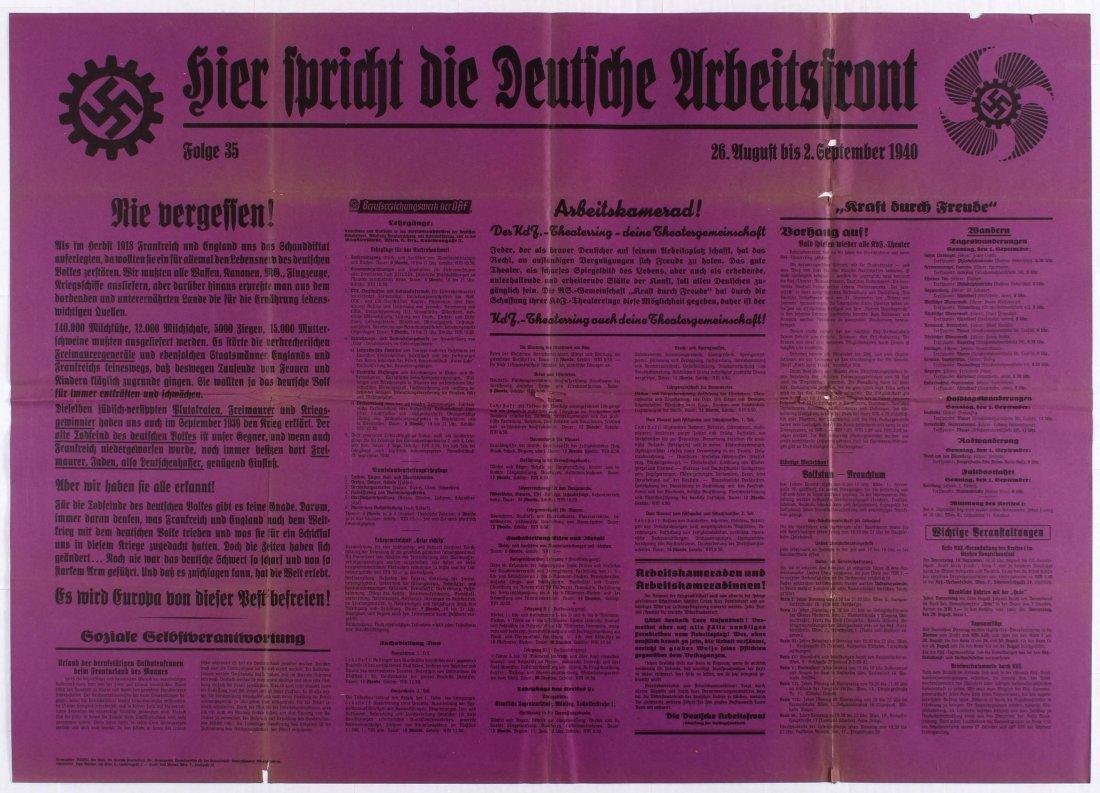 Nazi Propaganda poster - The Voice of the German Labour