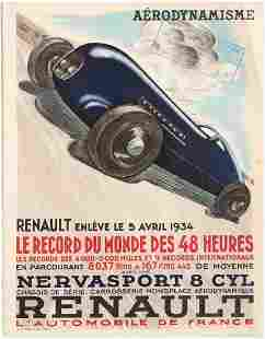 Advertising Poster for Renault Renault takes the 48