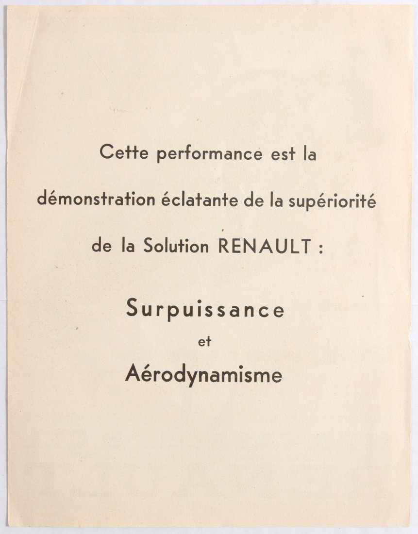 Advertising Poster for Renault Renault takes the 48 - 2