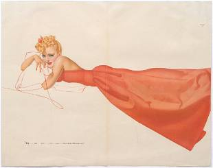 Advertising Poster Esquires PinUp Petty