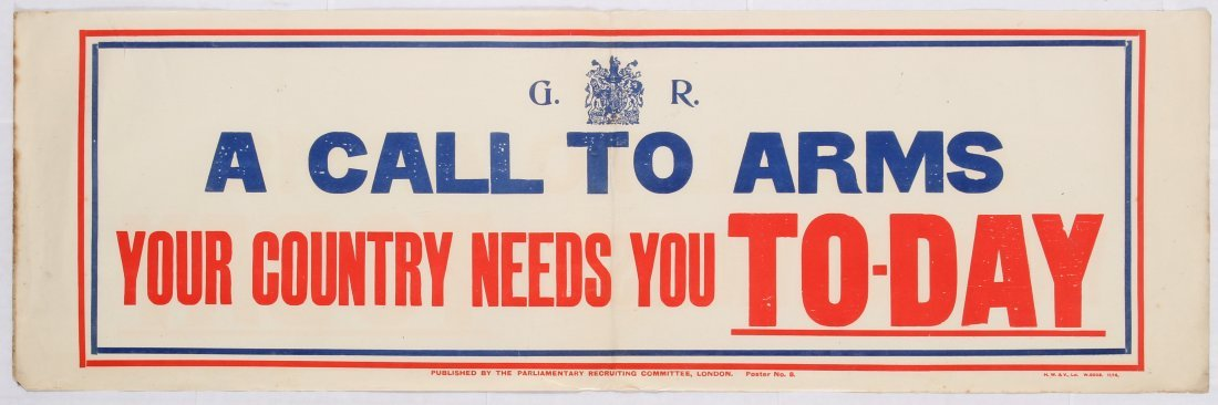 War Propaganda WWI poster A call to Arms Your Country
