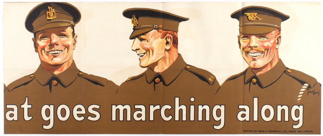 War Propaganda WWI poster Join the brave throng that - 3