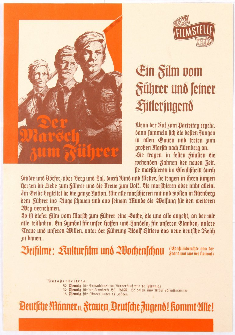 War Propaganda WWII Nazi Film poster Der Marsch zum