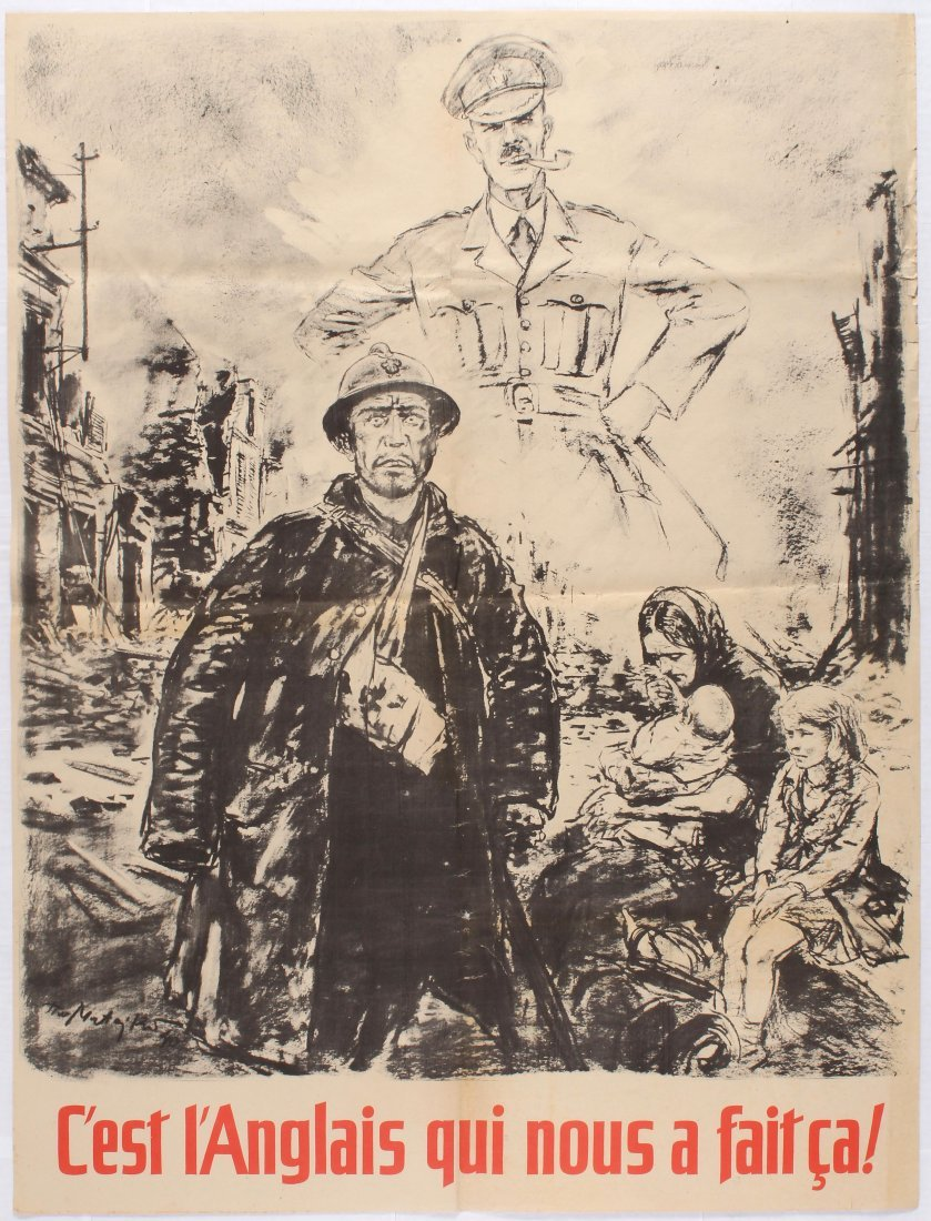 Belgium War Propaganda WWII Nazi poster Its the English - 2