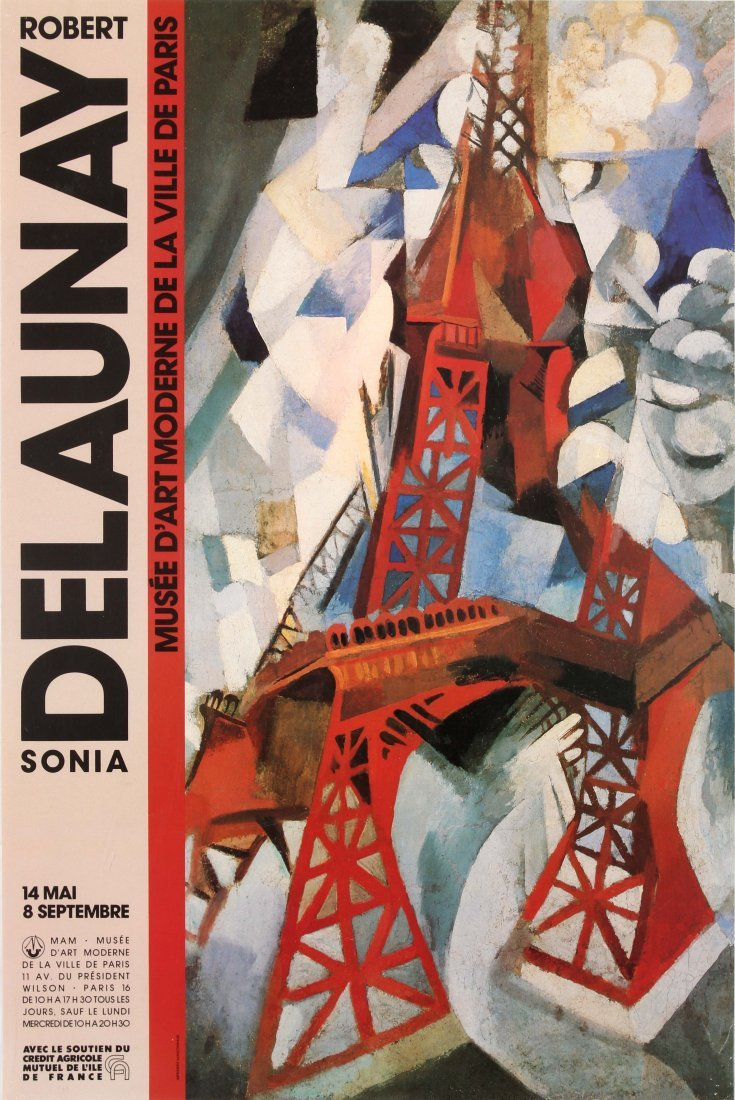 Advertising Poster Robert & Sonia Delaunay Exhibition