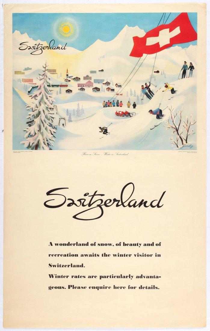 Travel Poster Switzerland Winter in Switzerland