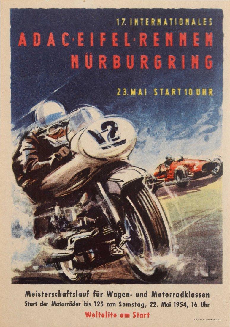 Sport Poster International ADAC Eifelrennen Motorcycle