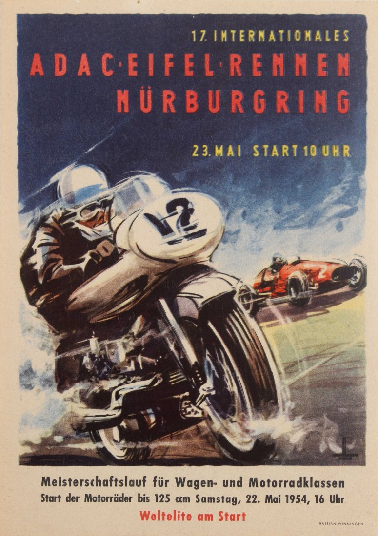 Sport Poster International ADAC Eifelrennen Motorcycle