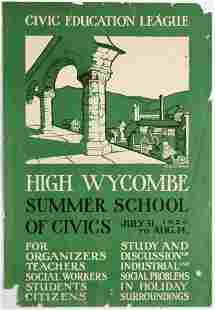 Advertising Poster Civic Education League High Wycombe