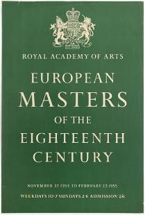 Advertising Poster Royal Academy of Arts European