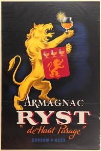 Advertising Poster Armagnac Ryst De haut parag